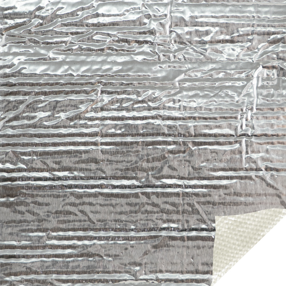 A Fully Customizable Aluminized Fiberglass Sheet Complete with a High-Temperature Acrylic Adhesive.