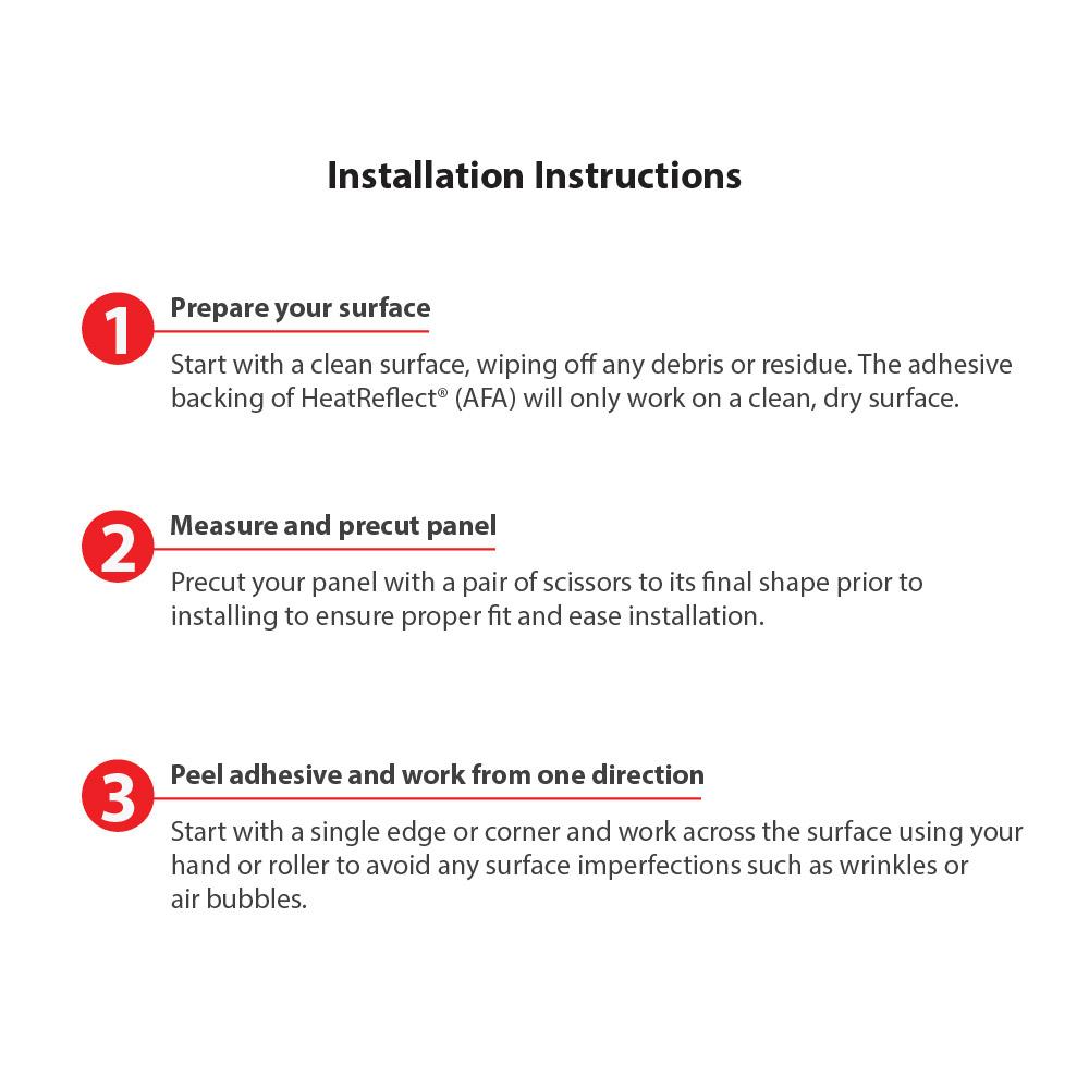 HeatReflect® (AFA) - Installation Instructions