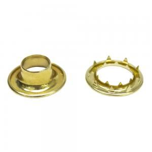 Rolled Brass Grommets with Part Number: